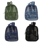 """17"""" Mesh Backpacks in 4 Assorted Colors"""