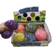 """4"""" Squish Jelly Ball with Foam Beads"""
