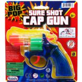 """6"""" CLEAR MULTI-COLOR CAP TOY GUN(REVOLVER) ON BLISTER CARD"""