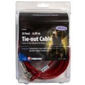 Dog Tie-out Cable With 2 Swivel Snaps 20 Feet Peerless