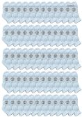 Yacht & Smith Wholesale Bulk Kids Mid Ankle Socks, With Free Shipping Size 4-6 (White)