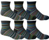 Yacht & Smith Mens Cotton Quarter Ankle Socks,