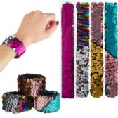 Mermaid Slap Reversing Sequins Bracelets