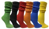 Yacht & Smith Womens Cotton Slouch Socks, Womans Knee High Boot Socks (Assorted, 6 Pack)