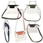 Women's Clear PVC Crossbody Bag with Cat Ear Handles