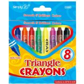 8ct Triangle Crayons