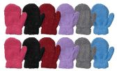 Yacht & Smith Kids Glitter Fuzzy MIttens Gloves Ages 2-7