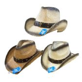 Classic Woven Cowboy Hat [Black Shading/Steer]