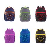 """17"""" Bungee Backpacks in 6 Assorted Colors"""
