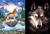 3D Picture Howling Wolf Brown Brown Wolf