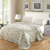 Cameo Microplush Blanket Queen Size Assorted In Mystic Scroll Style