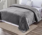 Ultra Plush Solid Grey Color King Size Blanket