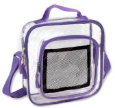 Clear Toiletry Bag In Puple