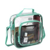 Clear Toiletry Bag In Green