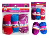 3 Pc Yarn In Assorted Colors