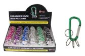Carabiner Hook with Keychain Rings