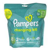 Pampers Size 4 - Pampers 8 Piece Changing Kit Size 4