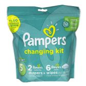 Pampers Size 5 - Pampers 8 Piece Changing Kit Size 5