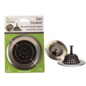 """4"""" Silicone & Stainless Steel Sink Strainer"""