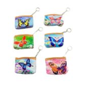 "4""x3.5"" Zippered Change Purse [Butterfly]"