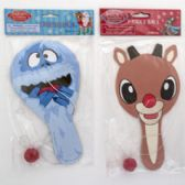 Paddle Ball Rudolph 2 Assorted