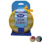 Sponge/scrubber Round 2pk 3ast 4.75in Peggable Cleaning Card