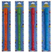 Flute Recorder 12.75in Blue/grn/org/red Blister Card