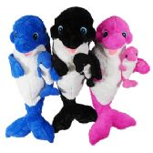 """21"""" Plush Orca Whale With Baby"""