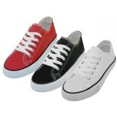 Youth's Comfortable Cotton Canvas Lace Up Shoes Assorted