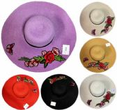 Lady Sun Hat Flower with Butterfly