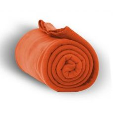 Fleece Blankets/Throw - Orange