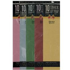 10 piece gift tissue assorted colors