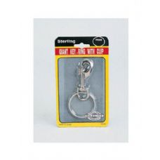 Giant key ring with clip