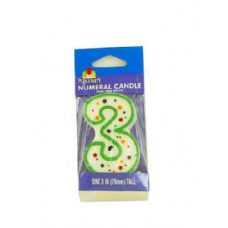 3RD BDAY CANDLE WM1045 X1