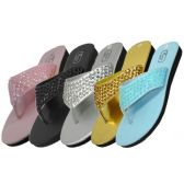 Women's Sequin Flip Flops