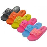 Open Toe Chinese Mesh Slippers, Size Range 6-11 Assorted