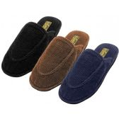 Men's Cotton Corduroy Upper Close toe House Slippers