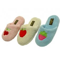 Ladies' Fruit Embroidered Slippers