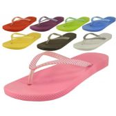 Ladies' Stripe Strap Thong Flip Flops