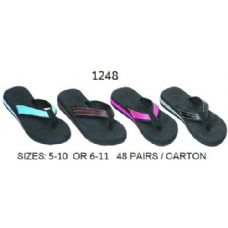 Ladies Wedge Flip Flop With Color Band