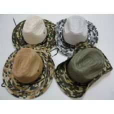 Boonie Hat-Solid Mesh with Camo Brim