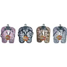 Girls Printed Flip Flop With Leather Strap