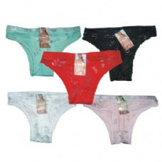 Ladys Panty W/hanger Assorted