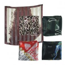 38IN X 36IN SILK SCARF ASSORTED DESIGN AND COLORS