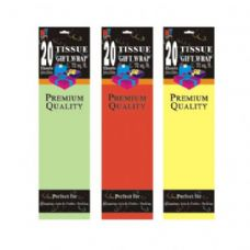 20CT TISSUE PAPER ASSORTED LIGHT COLORS