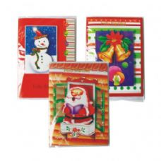 Christmas Card Spanish Musical Card W / Light Assorted Designs Counter Display