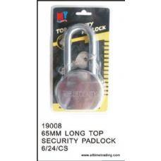 65MM TOP SECURITY PADLOCK  LONG TOP
