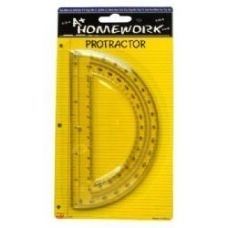 Protractor - 6inch- 1 pack - Assorted Plastic Cl