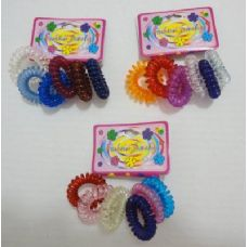 6pc Coil Hair Tie Back
