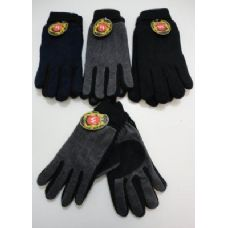 Men's Cuffed Gloves with Suede Palm (Two Tone)